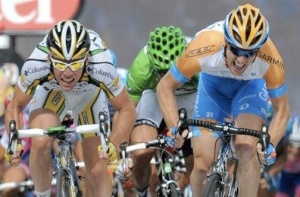 Farrar so close, Cavendish so so fast.