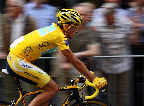 Contador seen leaving Astana.